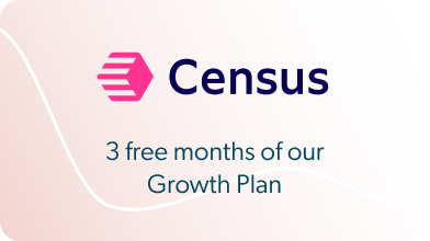 Census - 3 free months of our Growth Plan