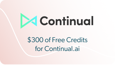 Continual - $300 of Free Credits for Continual.ai